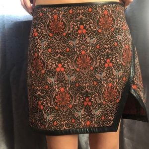 patterned skirt from express